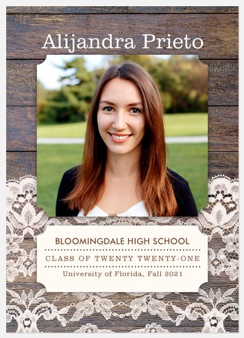 Wood & Lace Graduation Cards