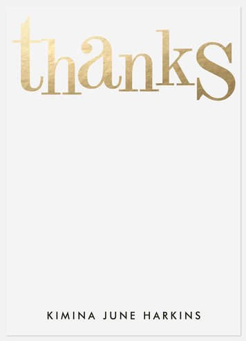 Glistening Thanks Thank You Cards