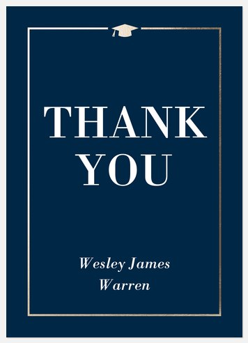 Sophisticated Grad Thank You Cards