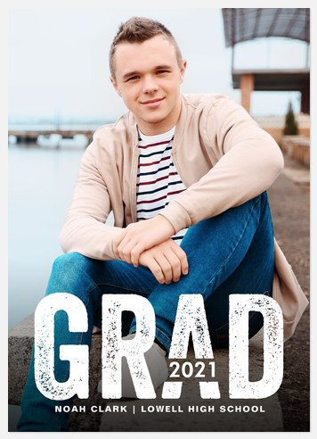 Bold Varsity Graduation Cards