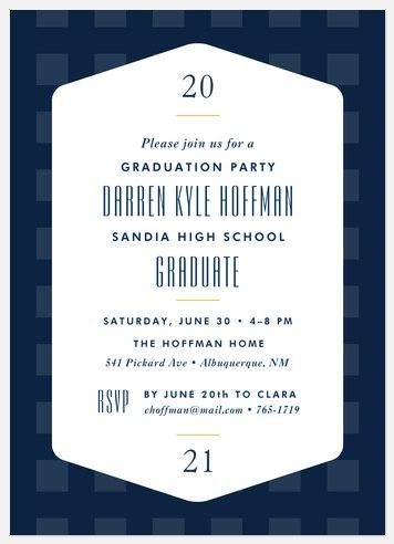 Plaid Prep Graduation Cards