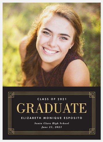Deco Frame Graduation Cards