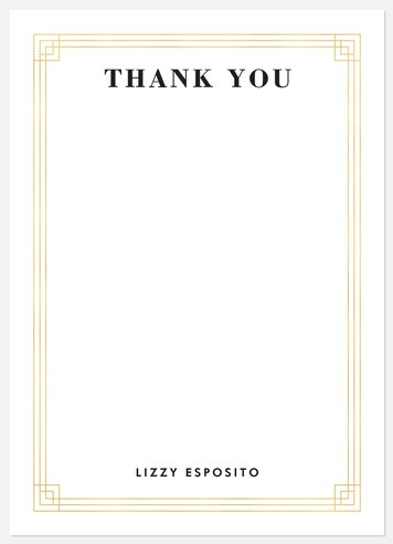 Deco Frame Thank You Cards