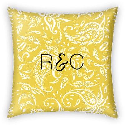 Summer Paisley Custom Pillows