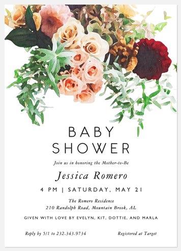Blooming Elegance Baby Shower Invitations