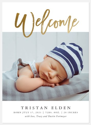 Bright Welcome Baby Birth Announcements