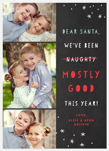 Mostly Good Holiday Photo Cards