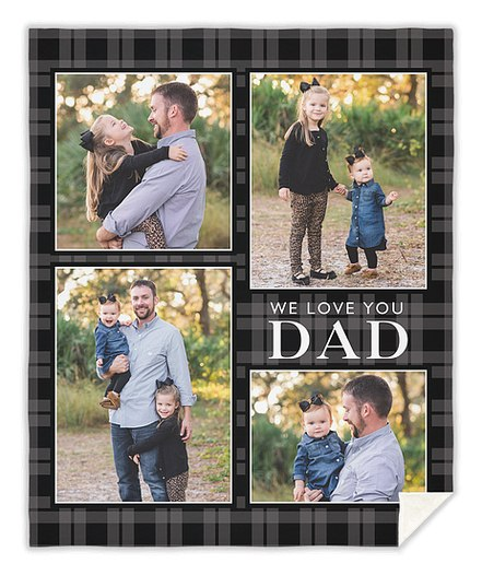 Plaid Dad Custom Blankets