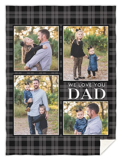 Plaid Dad Custom Blankets