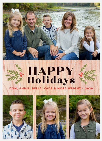 Homestyle Holly Holiday Photo Cards