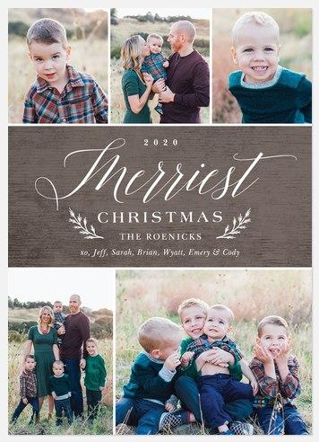 Rustic Barnwood Holiday Photo Cards