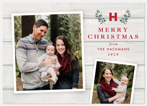 Farmhouse Christmas Holiday Photo Cards