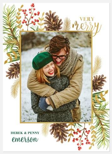 Pine Potpourri Holiday Photo Cards