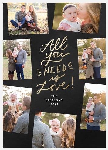 Holiday Love Holiday Photo Cards