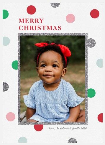 Holiday Confetti Holiday Photo Cards