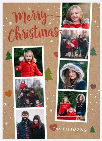 Gingerbread Forest Holiday Photo Cards