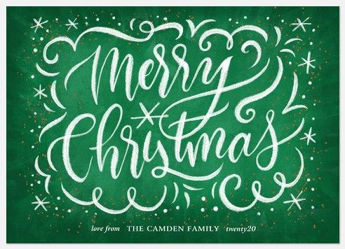 Christmas Chalk Holiday Photo Cards