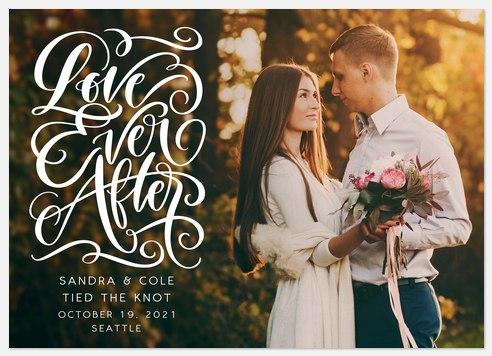 Enchanting Swirls Wedding Announcements