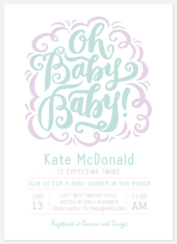 Soft Whimsicality  Baby Shower Invitations