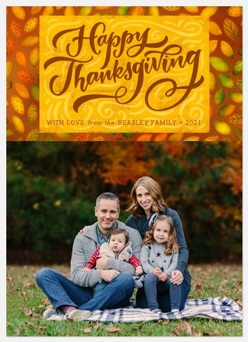 Leafy Details Thanksgiving Cards