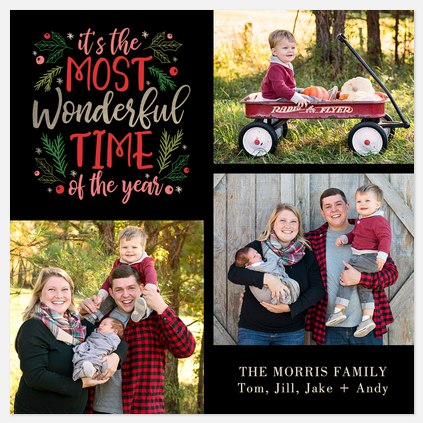 A Wonderful Time Holiday Photo Cards