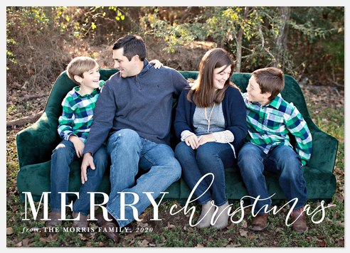 Modern Mix Holiday Photo Cards