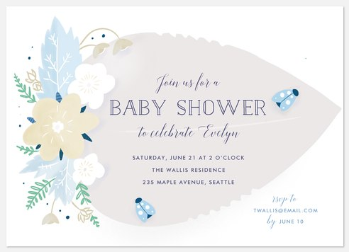 Our Little Bug Baby Shower Invitations