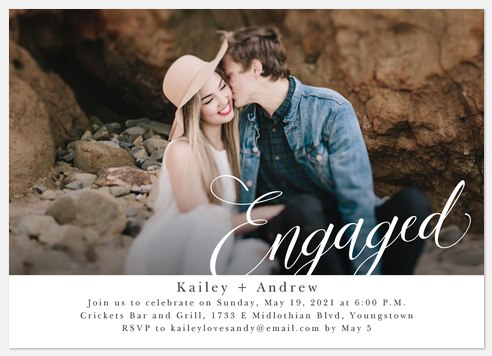 Simply Engaged Engagement Party Invitations