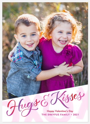 Xs & Os Valentine Photo Cards
