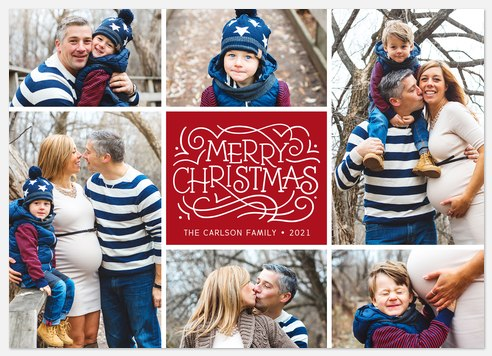 Cheerful Boxes Holiday Photo Cards