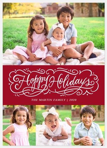 Christmas Swirls Holiday Photo Cards
