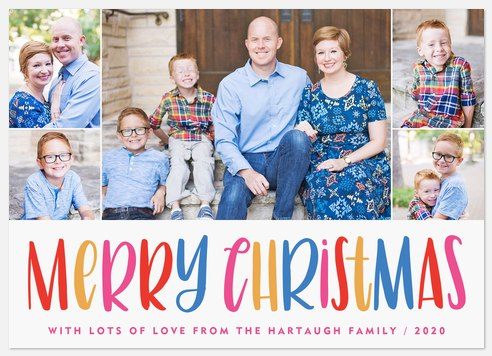 Merry Gumdrops Holiday Photo Cards