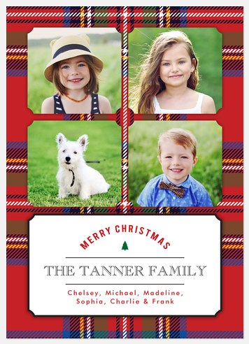 Classic Tartan Holiday Photo Cards