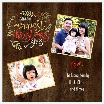 Woodland Wishes Holiday Photo Cards