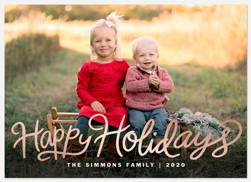 Gleaming Script Holiday Photo Cards