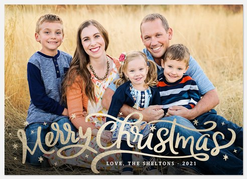 Gilded Greeting Holiday Photo Cards