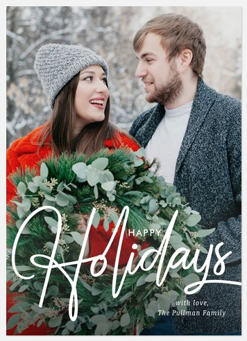 Vintage Inspired Holiday Photo Cards