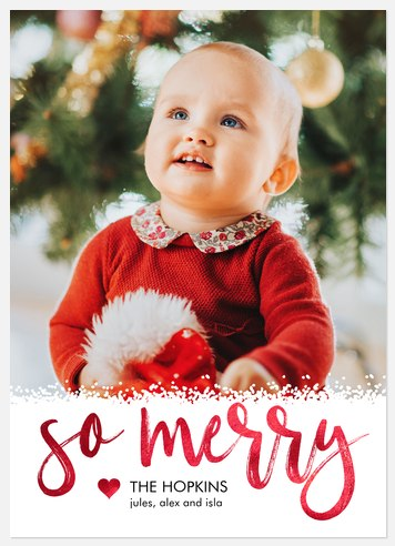 Luxe Shimmer Holiday Photo Cards
