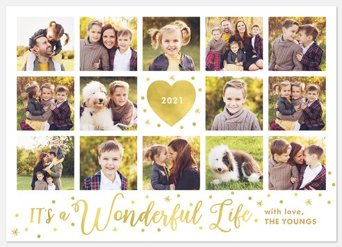 Glimmering Stars Holiday Photo Cards