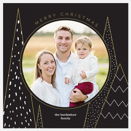 Arctic Pine Holiday Photo Cards