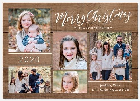 Walnut Greeting Holiday Photo Cards