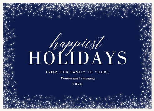 Holiday Sparkle Business Holiday Cards