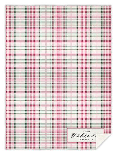 Sugarplum Plaid Custom Blankets