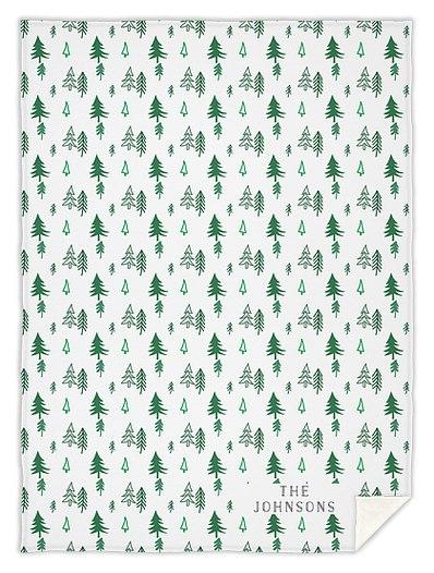 Pine Forest Custom Blankets