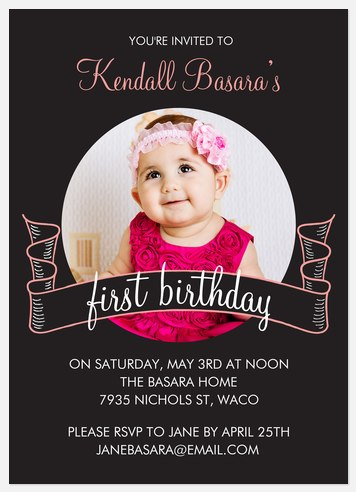 Vintage Banner Kids' Birthday Invitations