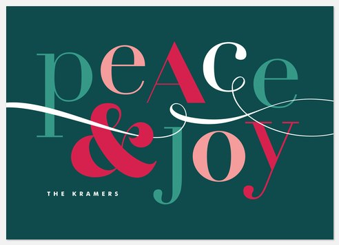 Eclectic Type Holiday Photo Cards