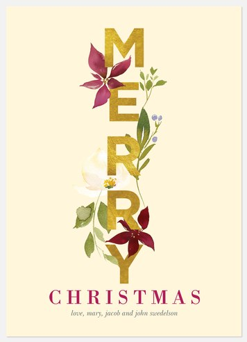 Merry Flora Holiday Photo Cards