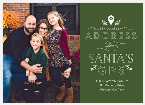 Santa's GPS Holiday Photo Cards