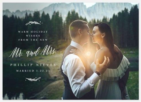 Newlywed Wishes Holiday Photo Cards