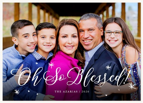 Abundant Blessings Personalized Holiday Cards